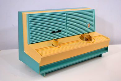 Mermaid Turquoise Vintage 1960 Sylvania Model 5C12 AM Radio - [product_type} - Sylvania - Retro Radio Farm