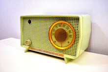 Load image into Gallery viewer, SOLD! - Nov. 21, 2019 - Julep Green Mid Century Retro Vintage 1956 RCA Victor Model 6-X-7 AM Tube Radio Excellent Condition! - [product_type} - RCA Victor - Retro Radio Farm