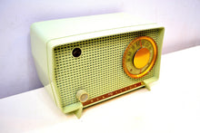 Load image into Gallery viewer, SOLD! - Nov. 21, 2019 - Julep Green Mid Century Retro Vintage 1956 RCA Victor Model 6-X-7 AM Tube Radio Excellent Condition!