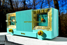 Load image into Gallery viewer, SOLD! - May 4, 2018 - CELESTE BLUE Mid Century 1952 Firestone Model 4-A-127 Tube AM Radio Cool Model Rare Color! - [product_type} - Firestone - Retro Radio Farm