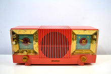 Load image into Gallery viewer, Salmon Pink 1952 Firestone Model 4-A-127 Vintage AM Radio Fantastic Catch! - [product_type} - Firestone - Retro Radio Farm