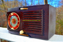 Load image into Gallery viewer, SOLD! - Nov 27, 2017 - BLUETOOTH MP3 READY - Art Deco 1952 General Electric Model 66 AM Brown Bakelite Tube Clock Radio Totally Restored! - [product_type} - General Electric - Retro Radio Farm