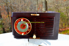 SOLD! - Nov 27, 2017 - BLUETOOTH MP3 READY - Art Deco 1952 General Electric Model 66 AM Brown Bakelite Tube Clock Radio Totally Restored!