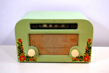 Load image into Gallery viewer, SOLD! - Dec 10, 2018 - Country Cottage Green 1940 Motorola 55x15 Tube AM Radio Original Factory Quaint Design! - [product_type} - Motorola - Retro Radio Farm