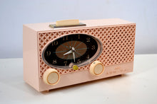 Load image into Gallery viewer, SOLD! - July 16, 2019 - Pink Lace 1959 Admiral Y3354 Antique Tube AM Clock Radio - [product_type} - Admiral - Retro Radio Farm
