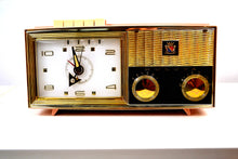 Load image into Gallery viewer, SOLD! - June 16, 2019 - Princess Pink 1962 Bulova Model 180 Tube AM Clock Radio Sweet! - [product_type} - Bulova - Retro Radio Farm