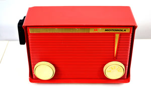 Bluetooth MP3 Ready - Apple Red 1959 Motorola Model A1R-15 Tube AM Radio - [product_type} - Motorola - Retro Radio Farm