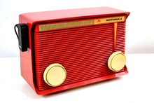 Load image into Gallery viewer, SOLD! - March 13, 2019 - Bluetooth MP3 Ready - Apple Red 1959 Motorola Model A1R-15 Tube AM Radio - [product_type} - Motorola - Retro Radio Farm