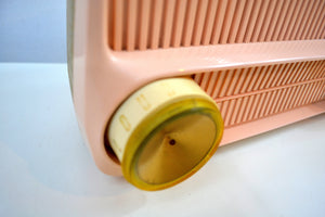 Cotillion Pink and Gold 1959 Motorola Model 5T13P Vacuum Tube AM Radio Sounds and Looks Heavenly! - [product_type} - Motorola - Retro Radio Farm