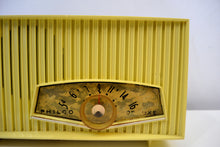 Load image into Gallery viewer, SOLD! - Jan. 8, 2020 - Limoncello Yellow Mid Century  1961 Philco Model K822-124 Tube AM Radio Cool Color!