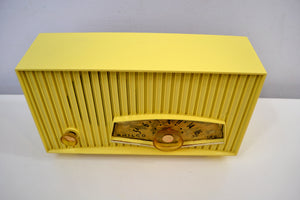 SOLD! - Jan. 8, 2020 - Limoncello Yellow Mid Century  1961 Philco Model K822-124 Tube AM Radio Cool Color!