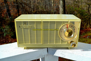 SOLD! - Aug 26, 2018 - BLUETOOTH MP3 Ready - Ivory Cream 1959-1960 General Electric Model T-141A Retro AM Clock Radio Works and Sounds Great! - [product_type} - General Electric - Retro Radio Farm