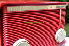 Load image into Gallery viewer, SOLD! - Aug 14, 2017 - BLUETOOTH MP3 READY - APPLE RED Retro Vintage 1959 Motorola Model A1R-15 Tube AM Clock Radio Totally Restored! - [product_type} - Motorola - Retro Radio Farm
