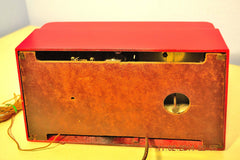 SOLD! - Feb 27, 2014 - STUNNING CARDINAL RED Bakelite 1948 Telechron Model 8H59 Clock Radio Works! , Vintage Radio - Admiral, Retro Radio Farm  - 9