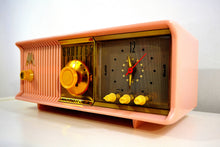 Load image into Gallery viewer, SOLD! - Jan. 8, 2020 - Marilyn Pink 1957 Motorola Model 56CD3 Vacuum Tube AM Clock Radio Excellent Condition Sounds Great! - [product_type} - Motorola - Retro Radio Farm
