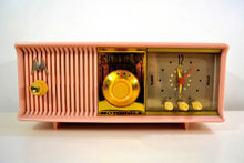 Load image into Gallery viewer, SOLD! - Jan. 8, 2020 - Marilyn Pink 1957 Motorola Model 56CD3 Vacuum Tube AM Clock Radio Excellent Condition Sounds Great!