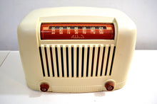Load image into Gallery viewer, Tusk Ivory Art Deco Industrial 1946 Addison Model 55 Bakelite AM Vacuum Tube Radio with Toaster Envy!
