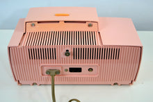 Load image into Gallery viewer, SOLD! - Dec 5, 2018 - Rose Pink 1957 General Electric Model 912D Tube AM Clock Radio - [product_type} - General Electric - Retro Radio Farm