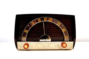 SOLD! - Feb. 11, 2020 - Sienna Brown 1950 Motorola Model 59X Tube AM Antique Radio Nice Performer Very Easy On The Eyes and Ears! - [product_type} - Motorola - Retro Radio Farm