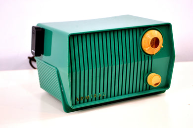 Bluetooth MP3 Ready - Green 1959 Admiral Model 4L28A AM Vintage Radio - [product_type} - Admiral - Retro Radio Farm