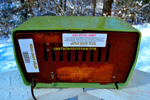 Load image into Gallery viewer, SOLD! - Dec 11, 2017 - OKLAHOMA Green And Ivory Yellow 1956 RCA Victor Model 5J-X-2B AM Tube Radio Great Sounding! - [product_type} - RCA Victor - Retro Radio Farm