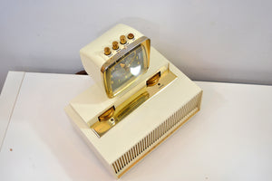 SOLD! - Feb. 6, 2020 - Science Fiction Fantasy 1960 Philco Predicta Model J775-124 Vacuum Tube AM Clock Radio Near Mint Condition! - [product_type} - Philco - Retro Radio Farm