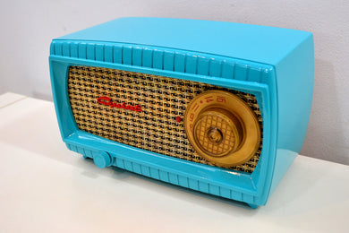 SOLD! - Dec 12, 2019 - TURQUOISE AND WICKER Vintage 1949 Capehart Model 3T55B AM Vacuum Tube Radio Totally Restored!