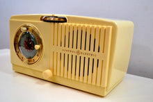 Load image into Gallery viewer, SOLD! - Jan 4, 2020 - Ivory White Vintage 1954 General Electric Model 516 AM Tube Radio Solid Player Popular Model! - [product_type} - General Electric - Retro Radio Farm