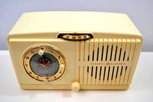 Load image into Gallery viewer, SOLD! - Jan 4, 2020 - Ivory White Vintage 1954 General Electric Model 516 AM Tube Radio Solid Player Popular Model!