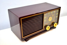 Load image into Gallery viewer, SOLD! - Dec 16, 2019 - Bordeaux Burgundy 1953 Philco Model 53-562 Transitone AM Radio with Civil Service and Sounds Great! - [product_type} - Philco - Retro Radio Farm