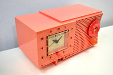 Load image into Gallery viewer, SOLD! - Jan. 19, 2020 - Rouge Pink 1959 Westinghouse Model H540T5A Vacuum Tube AM Clock Radio Seductive Looking and Sounding!