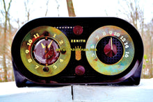 Load image into Gallery viewer, SOLD! - Dec 31, 2017 - OWL EYES Mid Century Retro Vintage 1950 Zenith 5-G-03B AM Tube Clock Radio Works Great! - [product_type} - Zenith - Retro Radio Farm