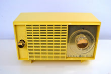 Load image into Gallery viewer, SOLD! - Dec 27, 2018 - Hello Yellow Mid Century Vintage 1959 General Electric Model T-129C Tube Radio Super Rare Color! - [product_type} - General Electric - Retro Radio Farm