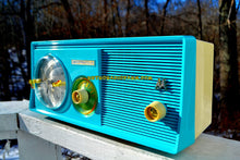 Load image into Gallery viewer, SOLD! - Jan 1, 2018 - SKY BLUE Mid Century Retro 1958 Motorola Model 5C23CW Tube AM Clock Radio Beautiful and Sounds Great! - [product_type} - Motorola - Retro Radio Farm