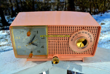 Load image into Gallery viewer, Bluetooth MP3 Ready - Primrose Pink Mid Century 1959 General Electric Model C437A Tube AM Clock Radio Works Great! - [product_type} - General Electric - Retro Radio Farm