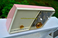 Load image into Gallery viewer, SOLD! - Oct 1, 2017 - PINK BEAUTY Mid-Century Retro Vintage 1959 Philco Model J772-124 AM Tube Clock Radio Totally Restored!