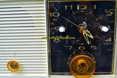 PINK BEAUTY Mid-Century Retro Vintage 1959 Philco Model J772-124 AM Tube Clock Radio Totally Restored!