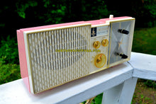 Load image into Gallery viewer, SOLD! - June 21, 2017 - BIARRITZ PINK Mid Century Vintage Retro 1962 Emerson Lifetimer III Model G1706 Tube AM Clock Radio