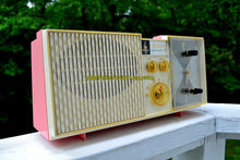 Load image into Gallery viewer, SOLD! - June 21, 2017 - BIARRITZ PINK Mid Century Vintage Retro 1962 Emerson Lifetimer III Model G1706 Tube AM Clock Radio - [product_type} - Emerson - Retro Radio Farm