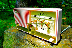 SOLD! - June 26, 2017 - ELDORADO Pink Mid Century Jetsons Vintage 1960 Arvin Model 5583 Tube Radio Amazing! - [product_type} - Arvin - Retro Radio Farm