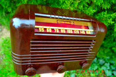 SOLD! - May 25 2014 - BEAUTIFUL PRISTINE Rare Art Deco Retro 1940 RCA Victor 15X AM Tube Radio Works! Wow! , Vintage Radio - RCA Victor, Retro Radio Farm  - 1