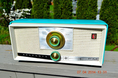 SOLD! - April 22, 2014 - SEAFOAM GREEN Atomic Age Vintage 1959 Sylvania Z6F17 Tube FM Radio WORKS! , Vintage Radio - Sylvania, Retro Radio Farm  - 1