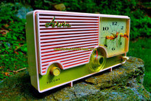 Load image into Gallery viewer, SOLD! - June 26, 2017 - ELDORADO Pink Mid Century Jetsons Vintage 1960 Arvin Model 5583 Tube Radio Amazing!