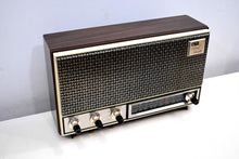 Load image into Gallery viewer, Wood Grain and Modern Metal 1967-71 Arvin 36R07 AM FM Vintage Solid State Radio Sounds Outta-site!