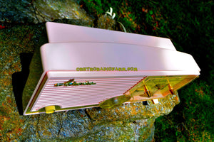 SOLD! - June 26, 2017 - ELDORADO Pink Mid Century Jetsons Vintage 1960 Arvin Model 5583 Tube Radio Amazing!