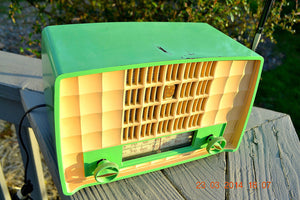 SOLD! - June 21, 2014 - CHARTREUSE GREEN Very Rare Vintage 1954 Philips P143-3 Tube AM Radio Works! - [product_type} - Philips - Retro Radio Farm