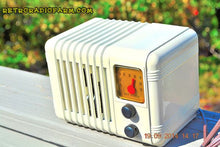 Load image into Gallery viewer, SOLD! - Oct 4, 2014 - SO CUTE 1940's Ivory Sky Rover Bakelite AM Tube AM Mini Radio WORKS! , Vintage Radio - Sky Rover, Retro Radio Farm  - 1