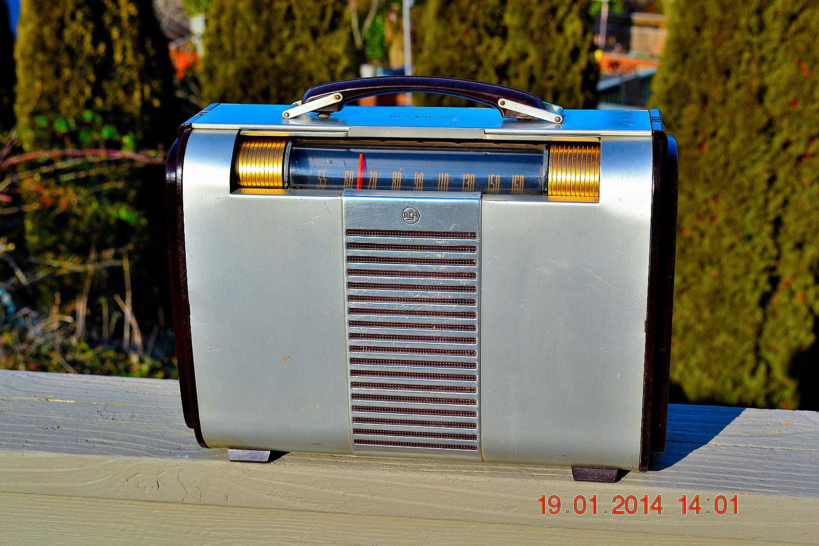 SOLD! - Jan 29, 2014 - BEAUTIFUL Post War Industrial Portable 1947 RCA Victor 66BX Tube Radio Works! - [product_type} - Admiral - Retro Radio Farm