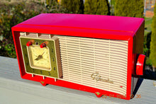 Load image into Gallery viewer, SOLD! - Feb 3, 2014 - CARDINAL RED Retro Space Age Sylvania R5485 Tube AM Clock Alarm Radio WORKS! - [product_type} - Admiral - Retro Radio Farm