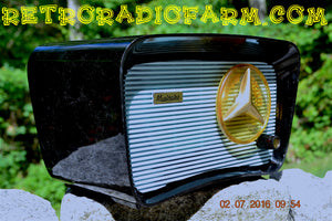 SOLD! - July 12, 2016 - BLUETOOTH MP3 READY - SO JETSONS LOOKING Retro Vintage AQUA and BLACK 1959 Musicaire MD300 AM Tube Radio WORKS! - [product_type} - Travler - Retro Radio Farm